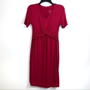 Isabel Maternity Size XS Pink Short Sleeve Dress
